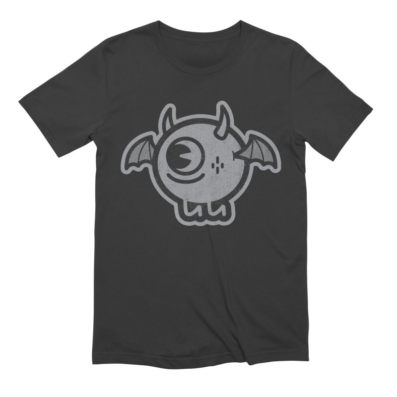 Lil' Demon - Gray Men's T-Shirt by Rikcat