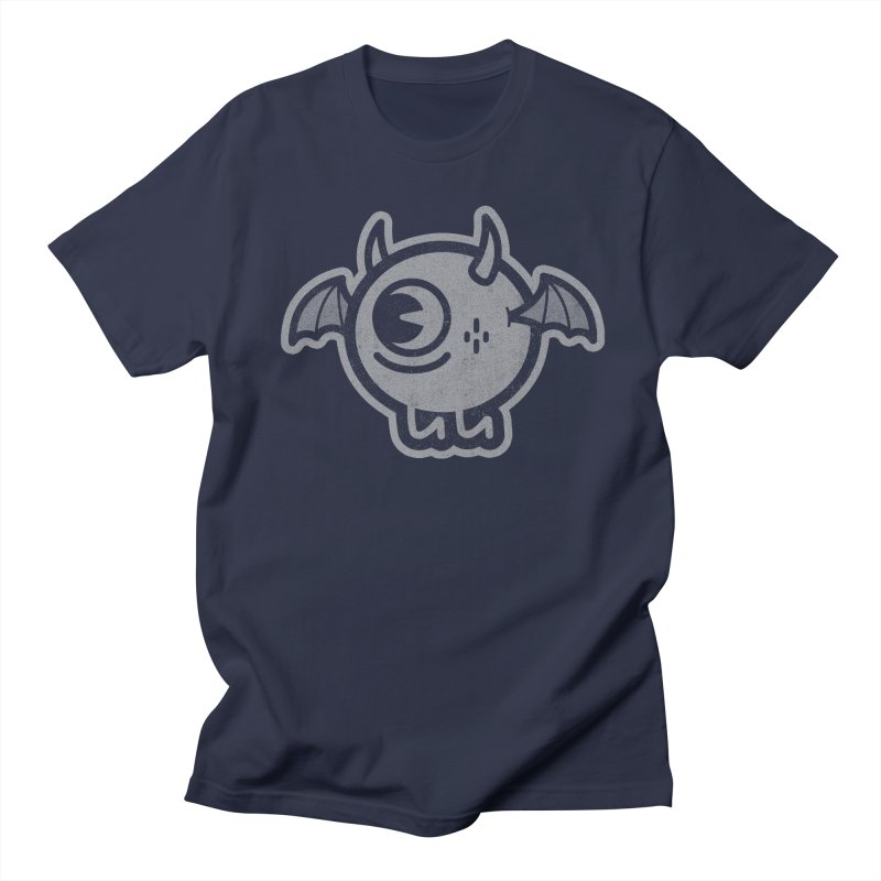 Lil' Demon - Gray Men's Regular T-Shirt by Rikcat