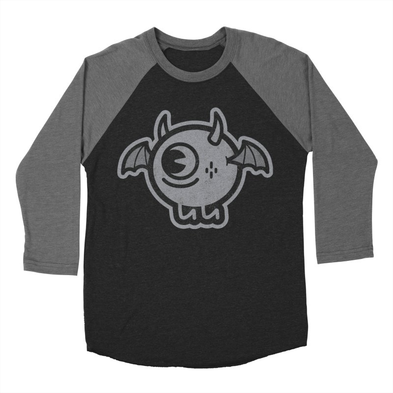Lil' Demon - Gray Men's Baseball Triblend Longsleeve T-Shirt by Rikcat