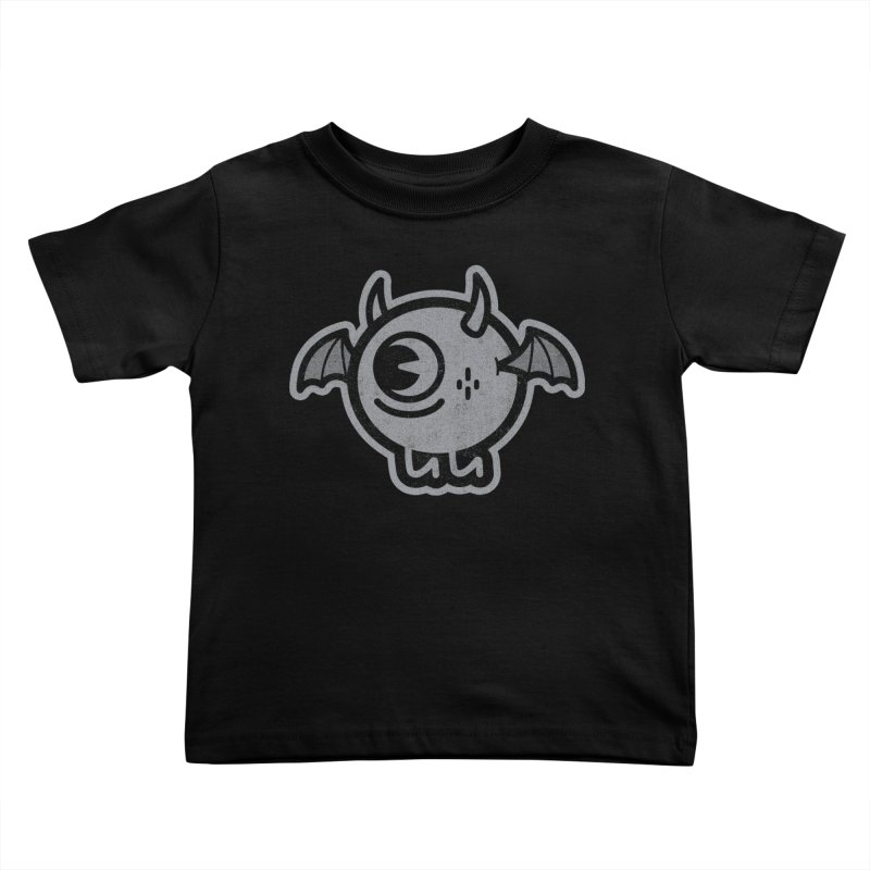 Lil' Demon - Gray Kids Toddler T-Shirt by Rikcat