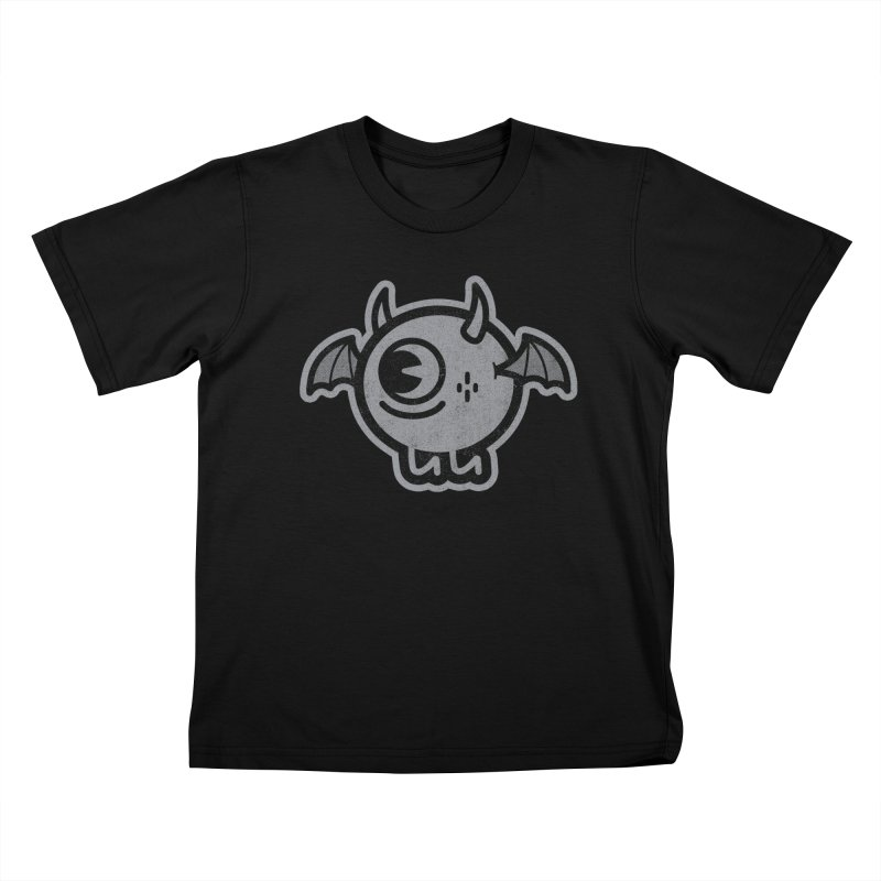 Lil' Demon - Gray Kids T-Shirt by Rikcat