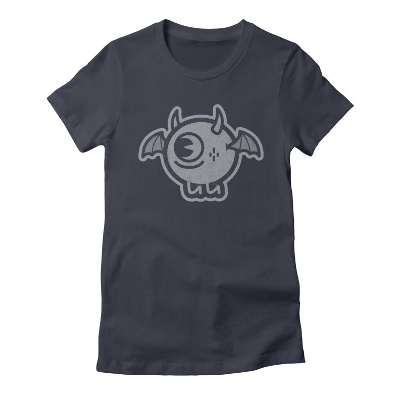 Lil' Demon - Gray Women's Fitted T-Shirt by Rikcat