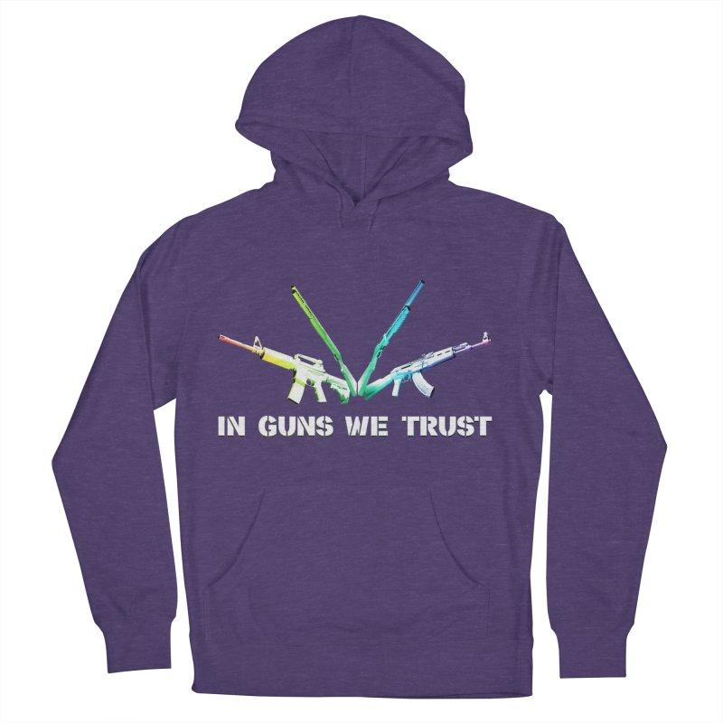 IN GUNS WE TRUST Women's Pullover Hoody by rikimountain's Artist Shop