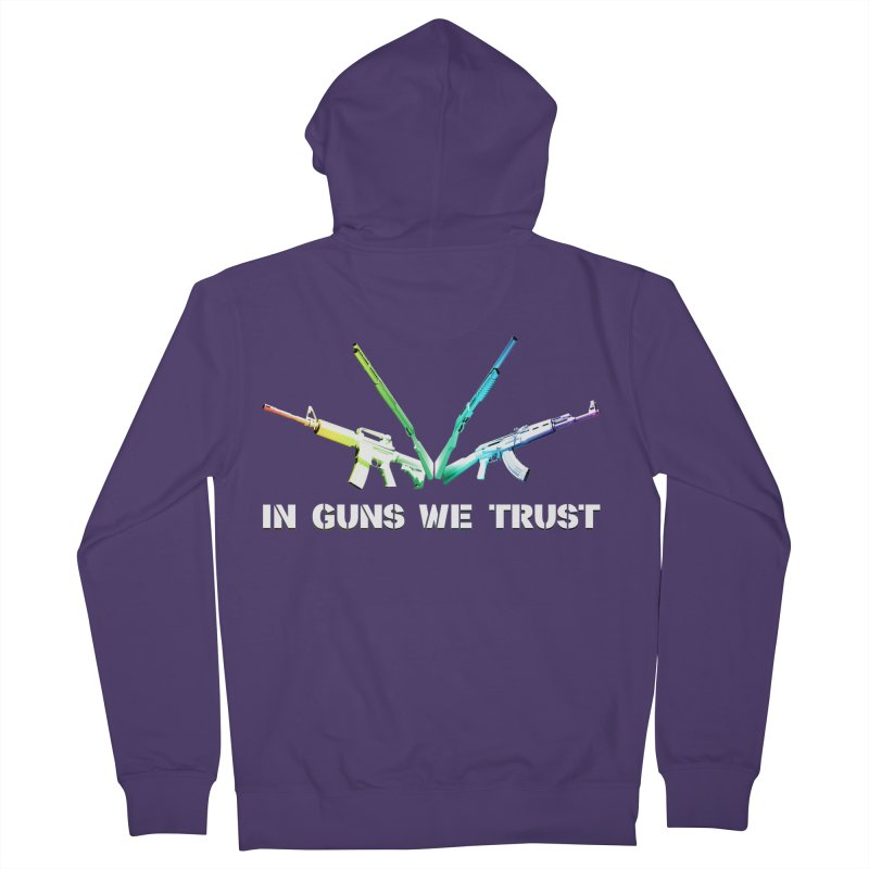 IN GUNS WE TRUST Women's Zip-Up Hoody by rikimountain's Artist Shop