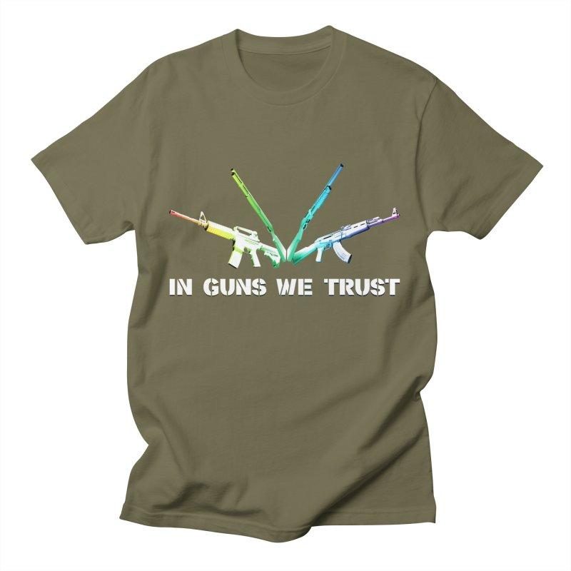 IN GUNS WE TRUST Women's Unisex T-Shirt by rikimountain's Artist Shop