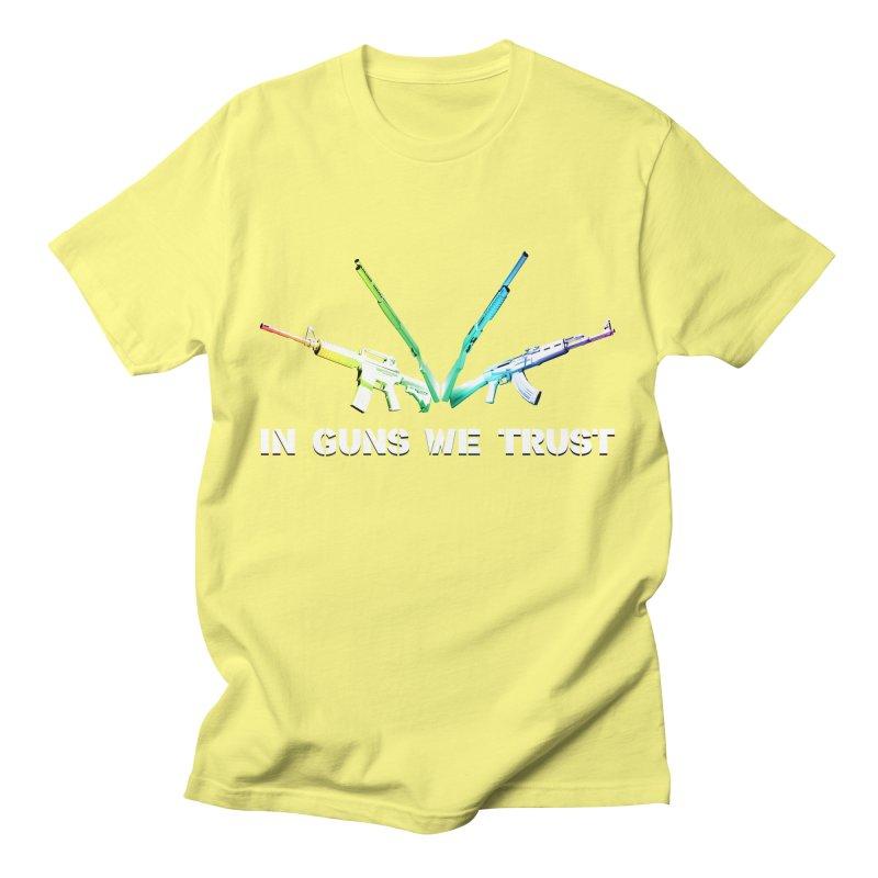 IN GUNS WE TRUST Women's Regular Unisex T-Shirt by rikimountain's Artist Shop