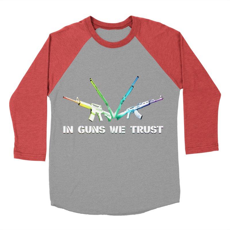 IN GUNS WE TRUST Women's Baseball Triblend Longsleeve T-Shirt by rikimountain's Artist Shop