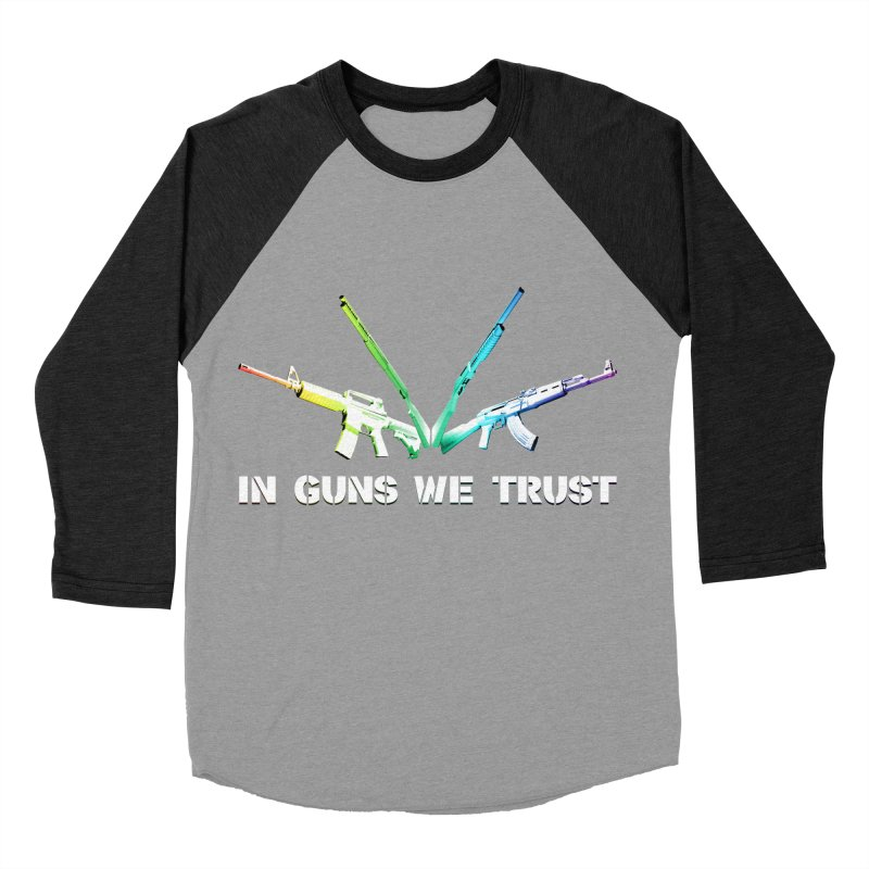 IN GUNS WE TRUST Women's Baseball Triblend Longsleeve T-Shirt by rikimountain's Artist Shop