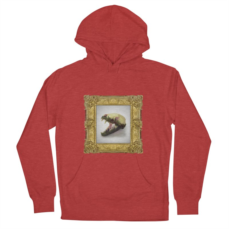Badger Skull Women's French Terry Pullover Hoody by rikimountain's Artist Shop