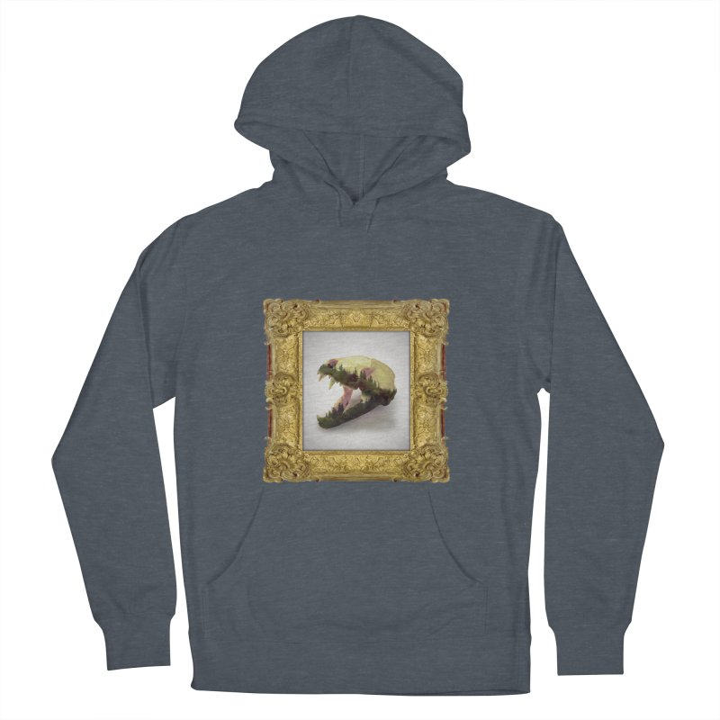 Badger Skull Men's French Terry Pullover Hoody by rikimountain's Artist Shop
