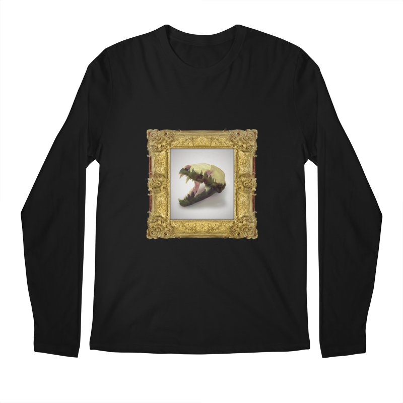Badger Skull Men's Longsleeve T-Shirt by rikimountain's Artist Shop