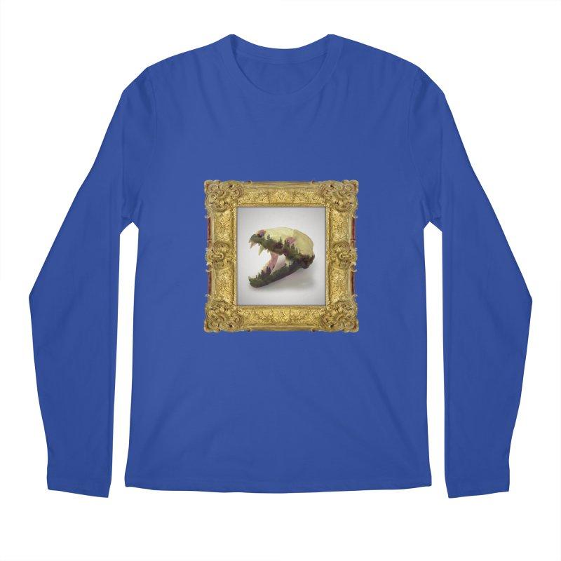 Badger Skull Men's Regular Longsleeve T-Shirt by rikimountain's Artist Shop