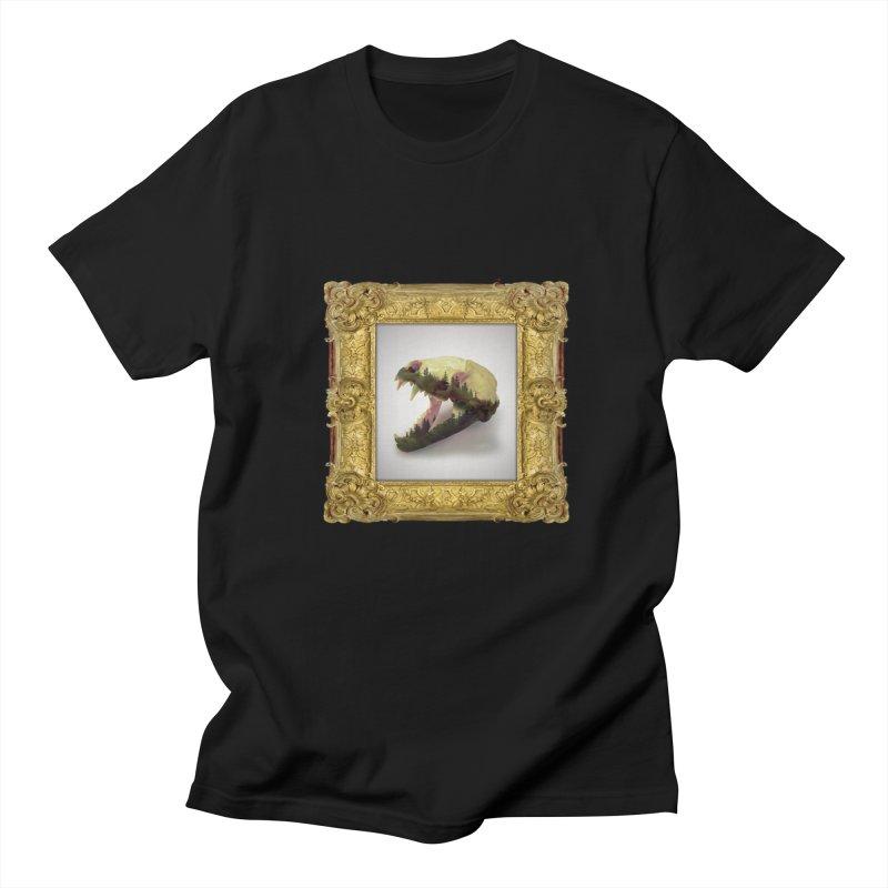Badger Skull Men's Regular T-Shirt by rikimountain's Artist Shop
