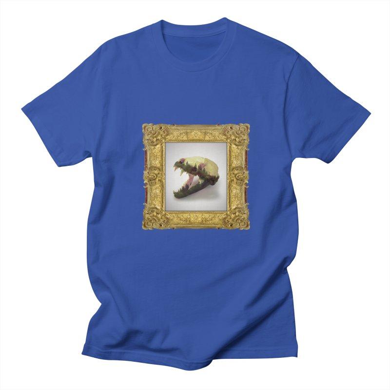 Badger Skull Men's T-Shirt by rikimountain's Artist Shop