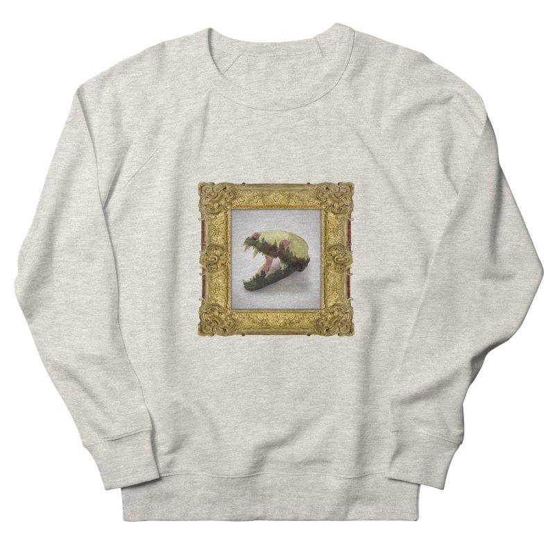 Badger Skull Men's French Terry Sweatshirt by rikimountain's Artist Shop