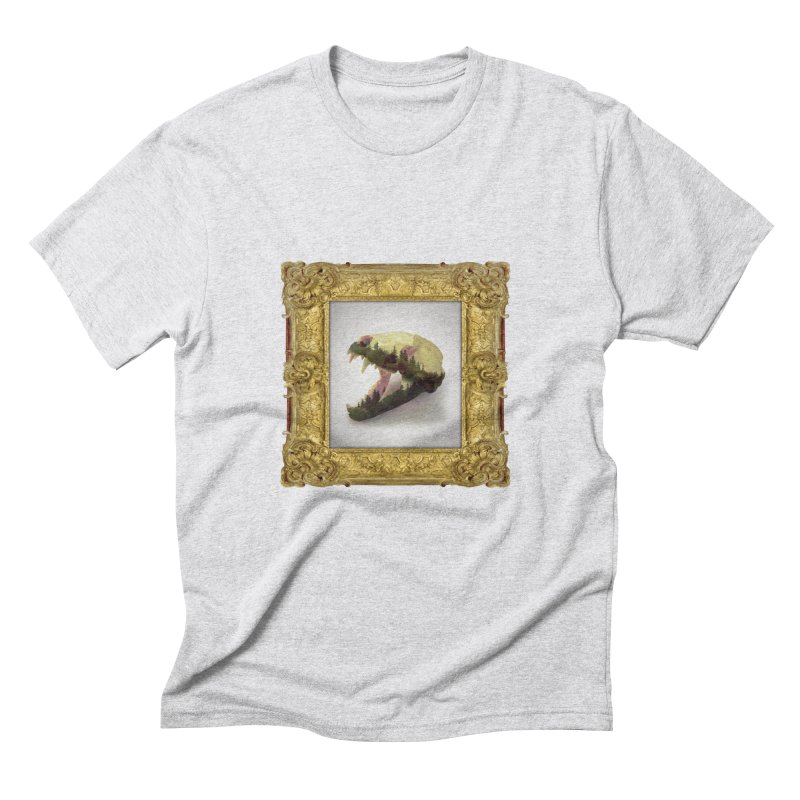 Badger Skull Men's Triblend T-Shirt by rikimountain's Artist Shop