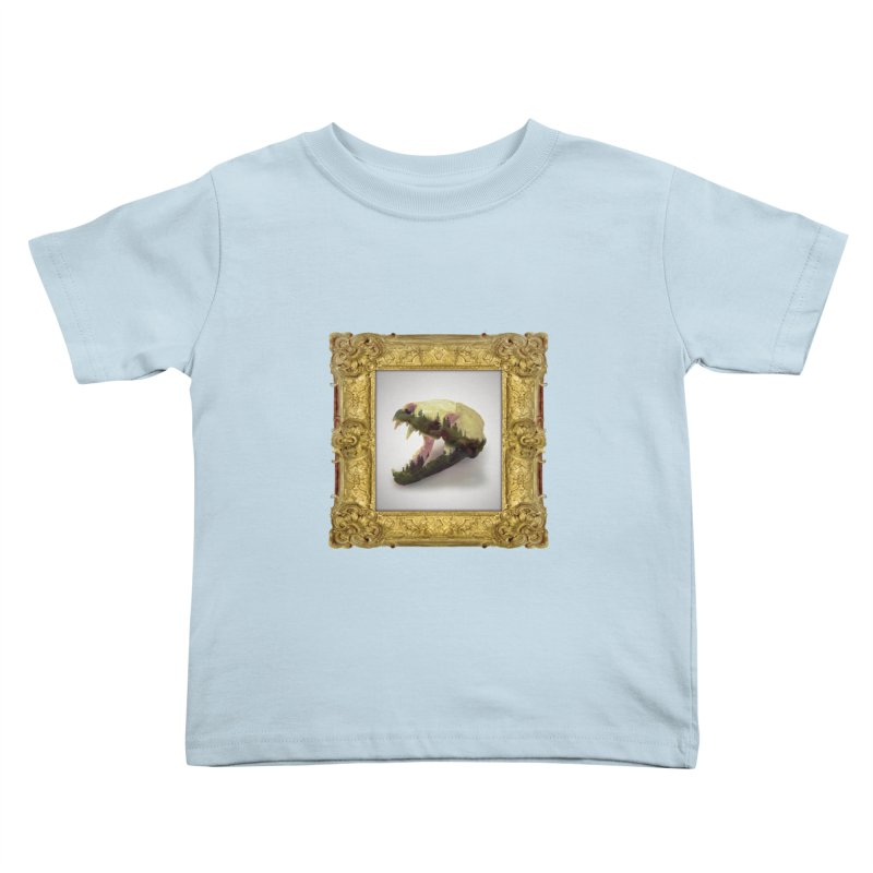 Badger Skull Kids Toddler T-Shirt by rikimountain's Artist Shop