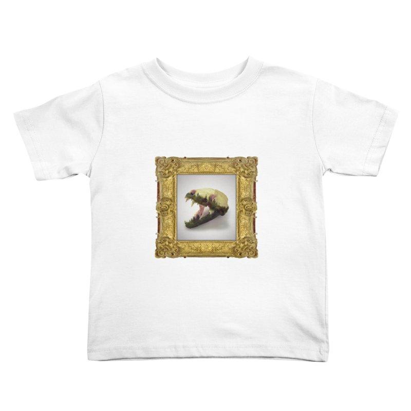 Badger Skull Kids Toddler T-Shirt by rikimountain's Artist Shop
