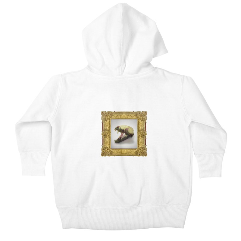 Badger Skull Kids Baby Zip-Up Hoody by rikimountain's Artist Shop