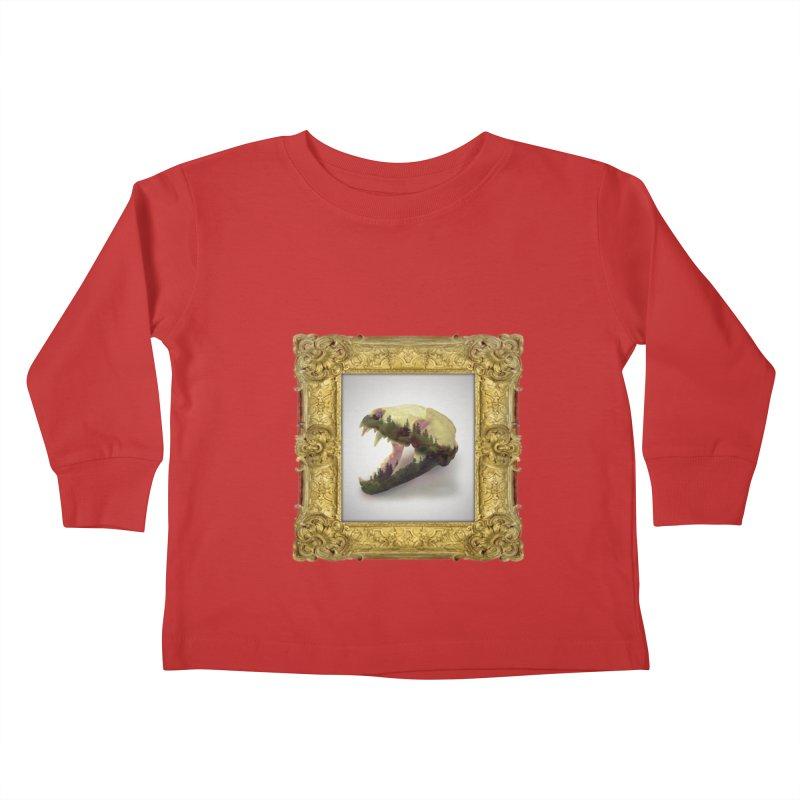 Badger Skull Kids Toddler Longsleeve T-Shirt by rikimountain's Artist Shop