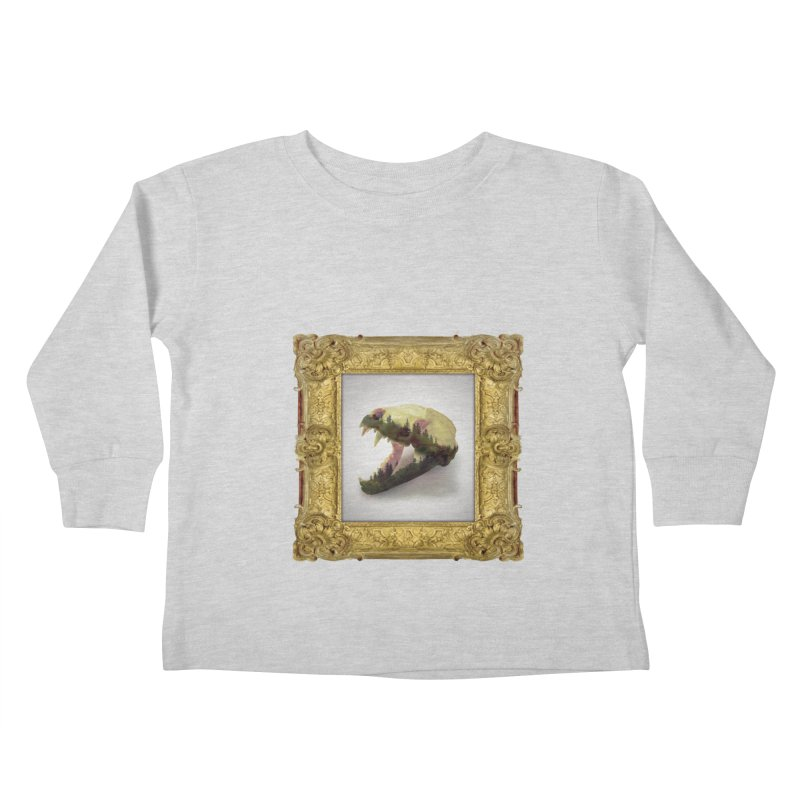 Badger Skull Kids Toddler Longsleeve T-Shirt by rikimountain's Artist Shop