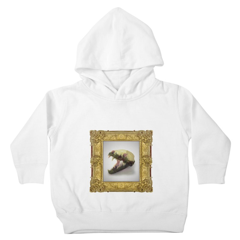 Badger Skull Kids Toddler Pullover Hoody by rikimountain's Artist Shop