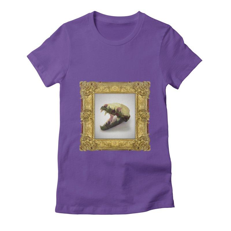 Badger Skull Women's Fitted T-Shirt by rikimountain's Artist Shop