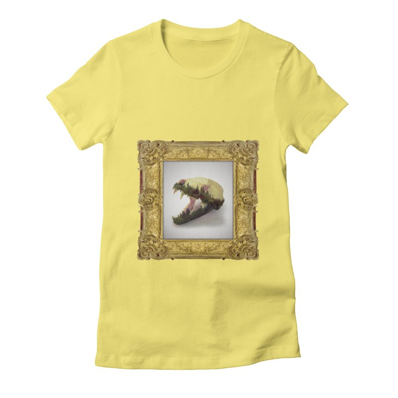 Badger Skull Women's Fitted T-Shirt by rikimountain's Artist Shop