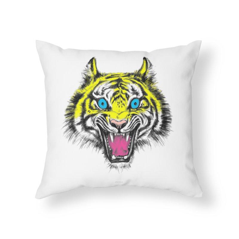 LOL CMYK Home Throw Pillow by rikkivelez's Artist Shop