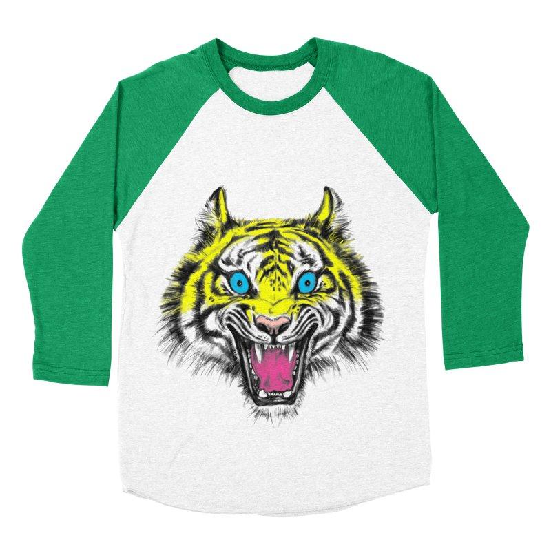 LOL CMYK Women's Baseball Triblend T-Shirt by rikkivelez's Artist Shop