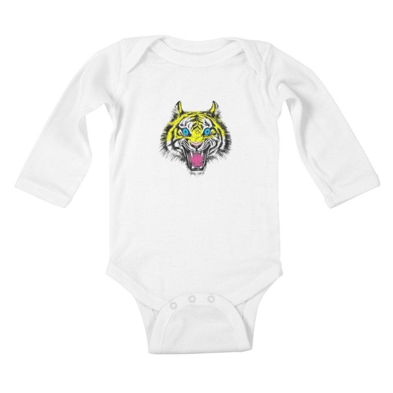 LOL CMYK Kids Baby Longsleeve Bodysuit by rikkivelez's Artist Shop