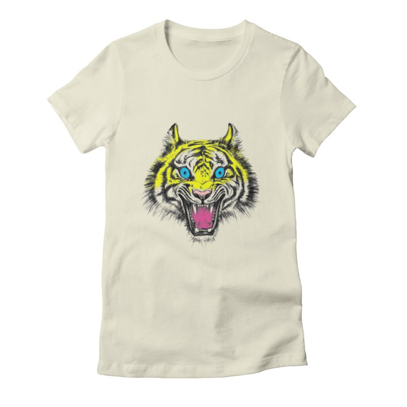 LOL CMYK Women's Fitted T-Shirt by rikkivelez's Artist Shop