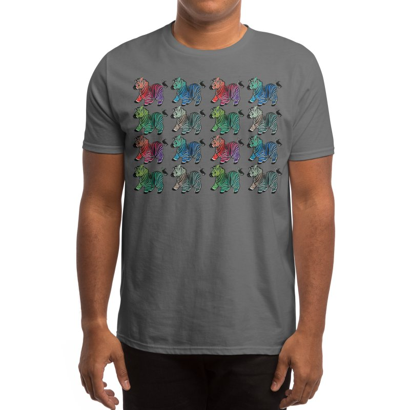 Black and White and Neon All Over Men's T-Shirt by rikkuriffic's Artist Shop