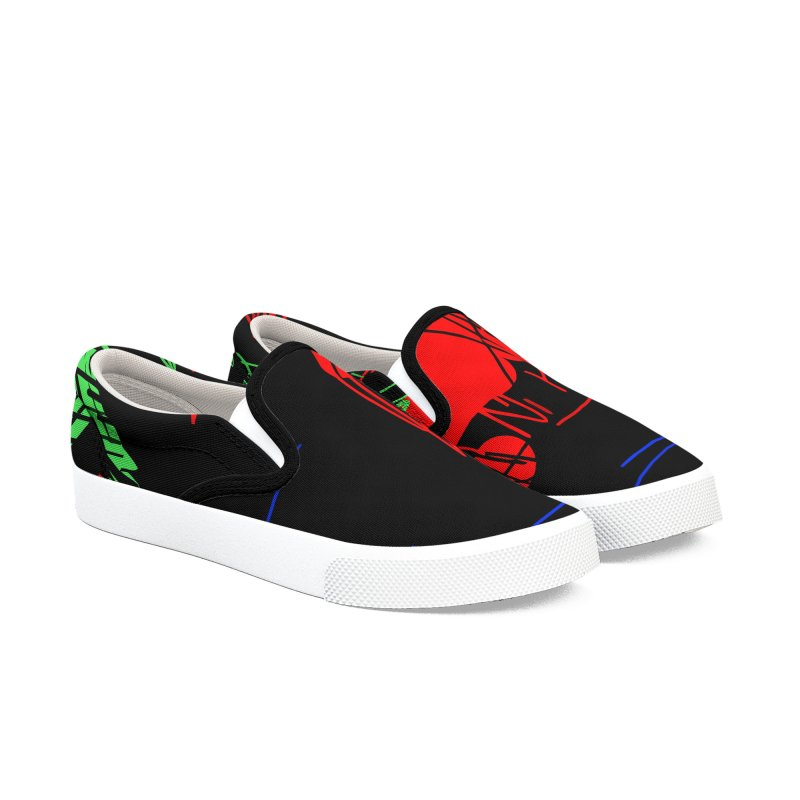 Red flower Women's Slip-On Shoes by rimadi's Artist Shop