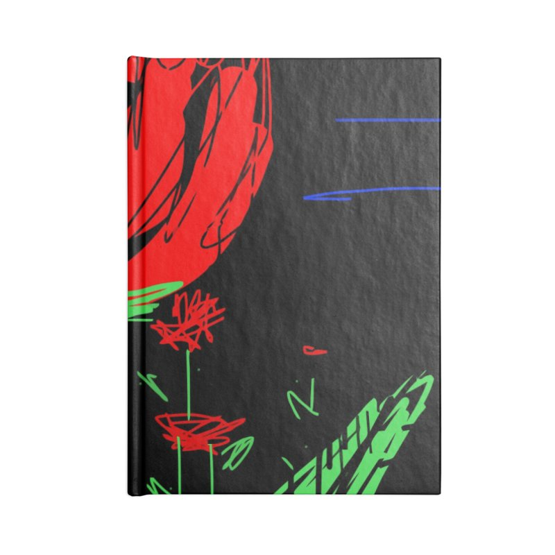 Red flower Accessories Lined Journal Notebook by rimadi's Artist Shop