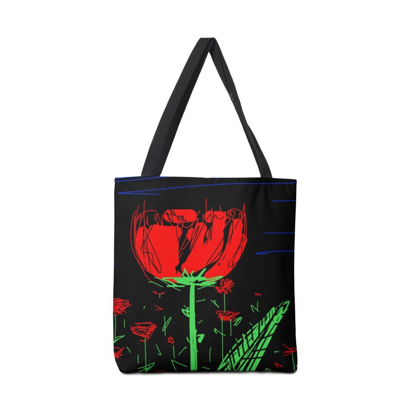 Red flower Accessories Tote Bag Bag by rimadi's Artist Shop