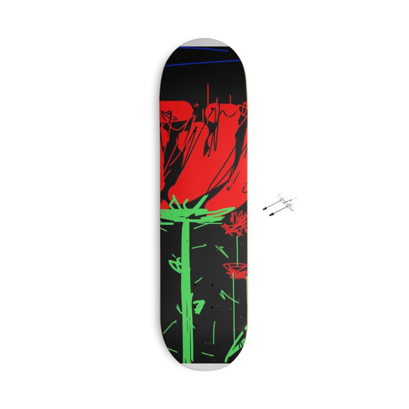 Red flower Accessories With Hanging Hardware Skateboard by rimadi's Artist Shop