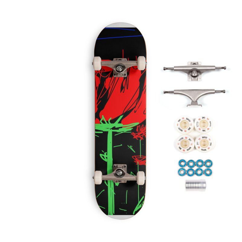 Red flower Accessories Complete - Premium Skateboard by rimadi's Artist Shop