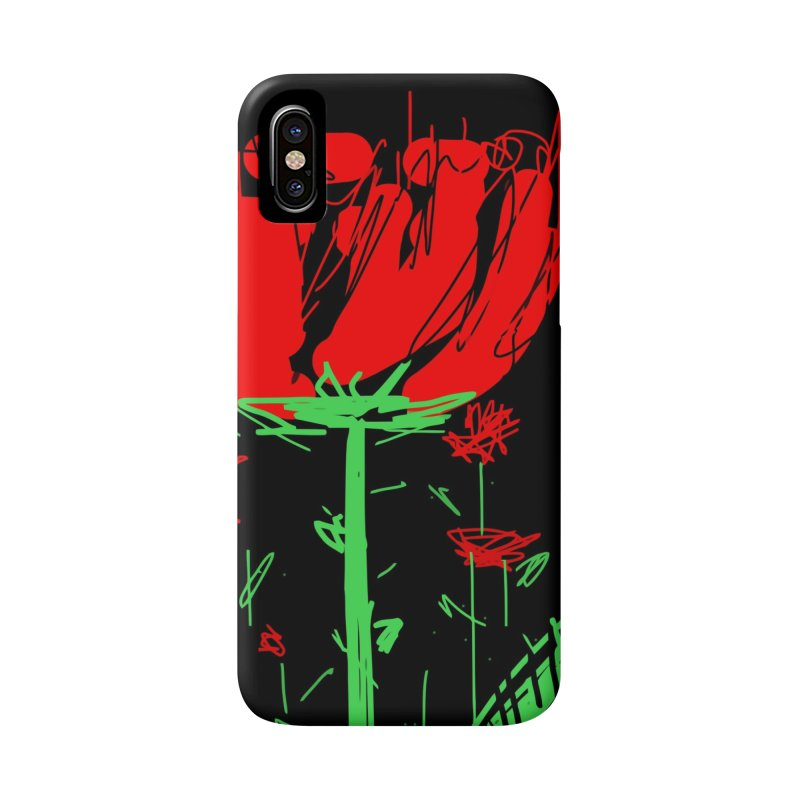 Red flower Accessories Phone Case by rimadi's Artist Shop