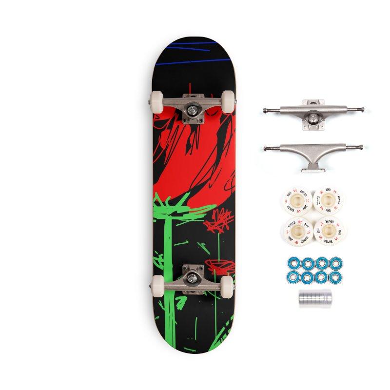 Red flower Accessories Complete - Premium Skateboard by rimadi's Artist Shop