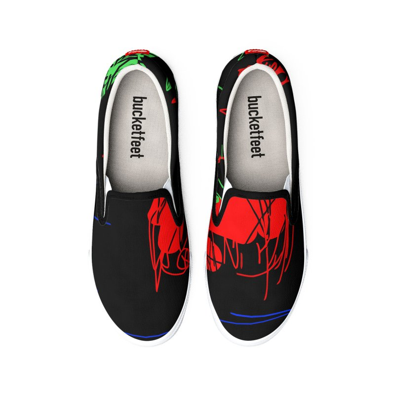 Red flower Women's Shoes by rimadi Shop