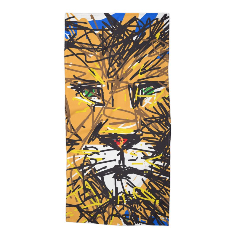 Leo Accessories Beach Towel by rimadi's Artist Shop