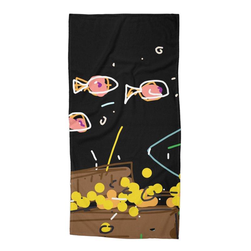 Treasure Accessories Beach Towel by rimadi's Artist Shop
