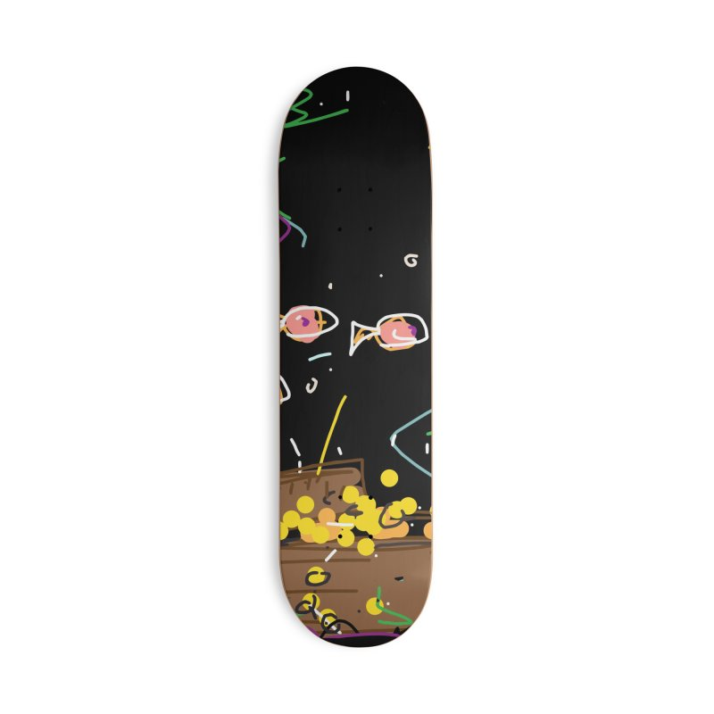 Treasure Accessories Deck Only Skateboard by rimadi's Artist Shop