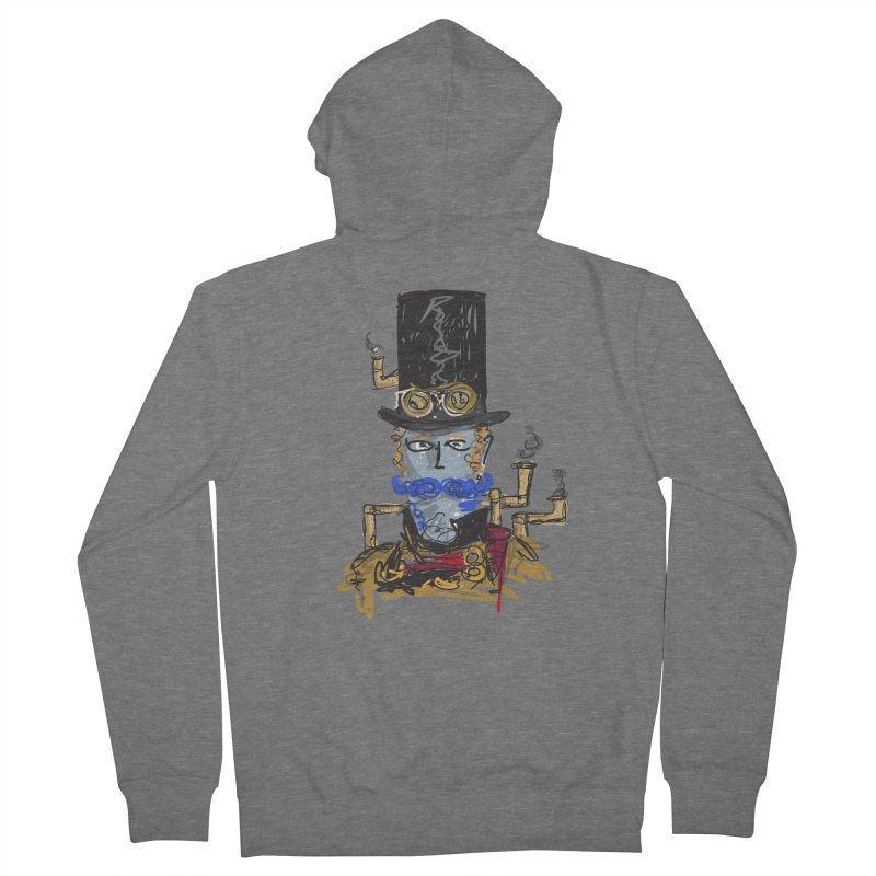 Steampunk Men's Zip-Up Hoody by rimadi Shop