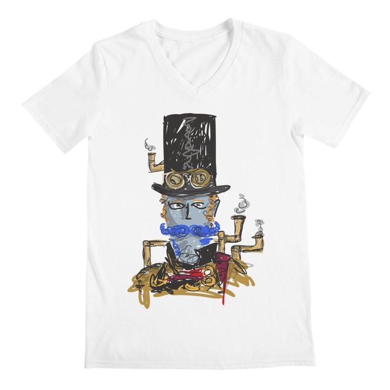 Steampunk Men's V-Neck by rimadi Shop