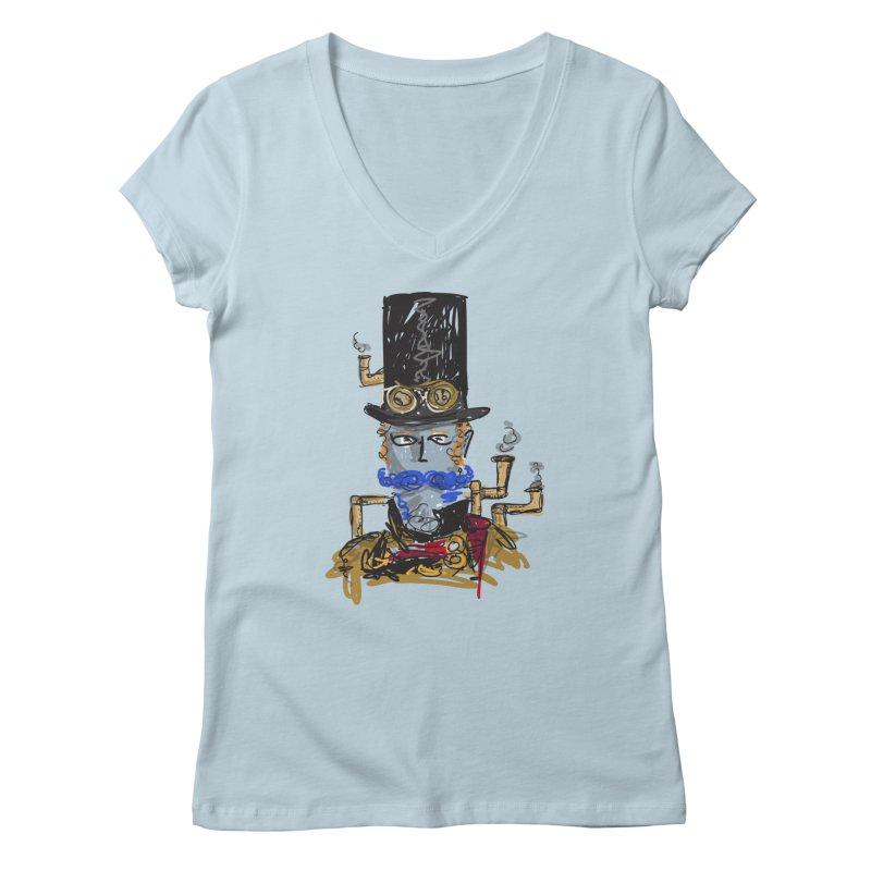 Steampunk Women's V-Neck by rimadi Shop