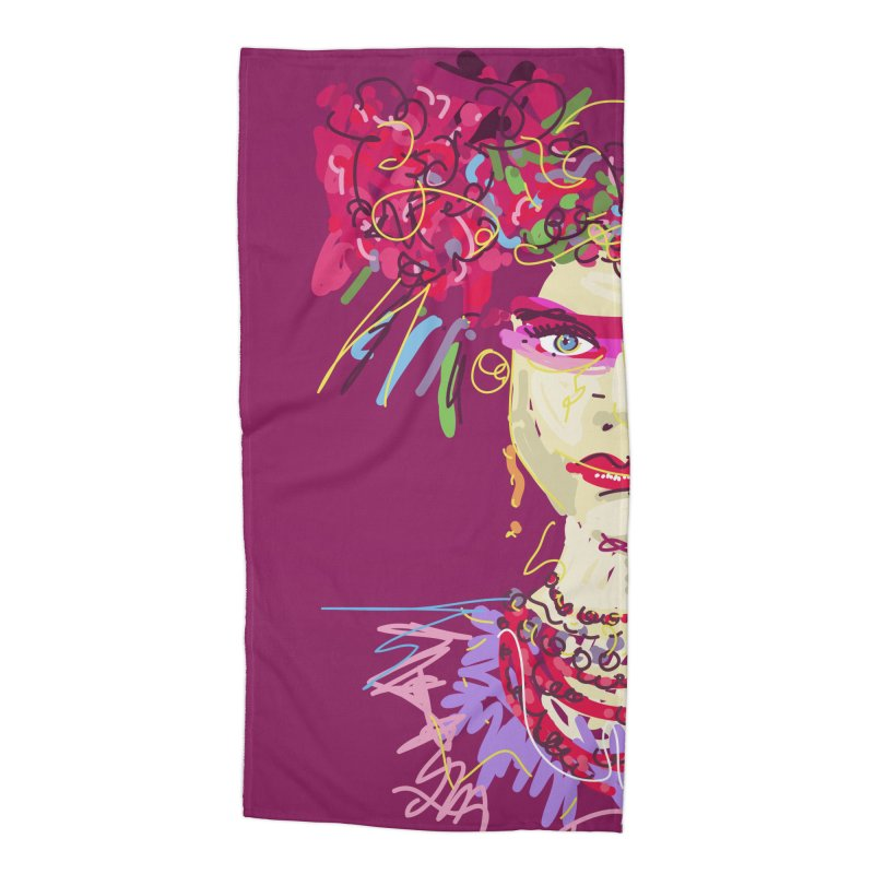 Flower girl Accessories Beach Towel by rimadi Shop