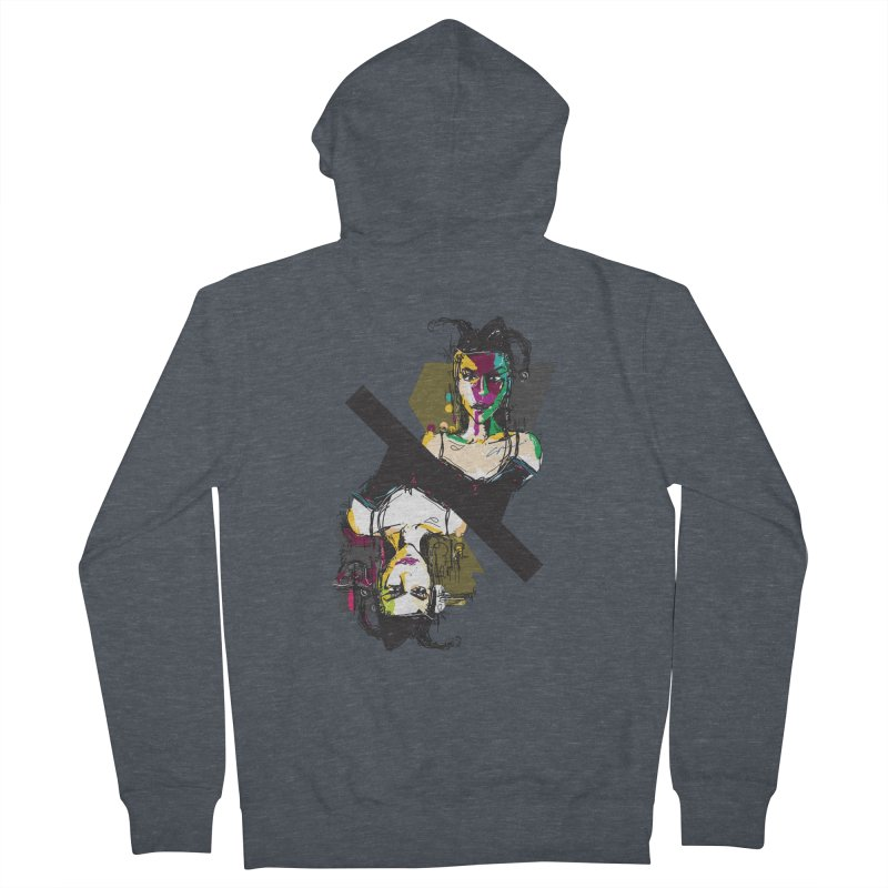 Black Joker Women's French Terry Zip-Up Hoody by rimadi's Artist Shop