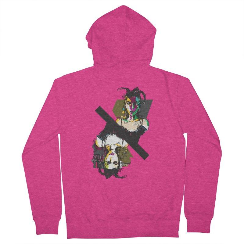 Black Joker Women's French Terry Zip-Up Hoody by rimadi's Artist Shop